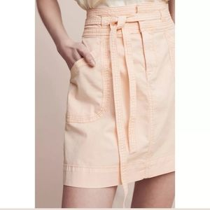 Pilcro and the Letterpress washed chino skirt
